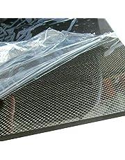 Wzqwzj Placa de Fibra de Carbono Superficie Lisa y Lisa, 200X500 mm, 0.2 mm a 6.0 mm