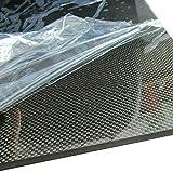 1.5 mm a 6.0 mm-1.5mm 200X500 mm Wzqwzj Placa de Superficie Mate de Sarga de Placa de Fibra de Carbono