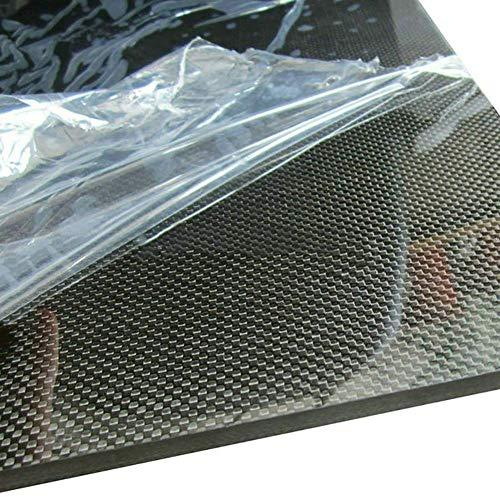 Carbon Fiber Board 100% 3K Leinwandbindung, Glatte Oberfläche Carbon Plate Sheet Laminat für CNC-bearbeitete Teile Drohne usw.-200mmx500mm-2mm