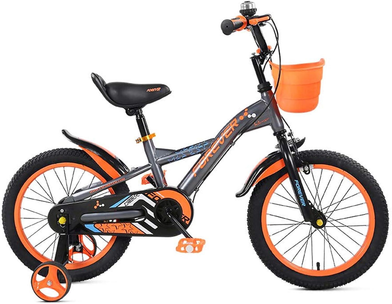 punto de venta de la marca DT Bicicleta para para para Niños 3-6-8 años Old Girl Boy Pedal de Bicicleta de 12 Pulgadas Bastidor de Cocherete de bebé de Baja Estatura con Cesta (Color   naranja)  grandes ofertas