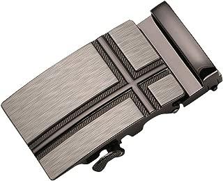 D DOLITY Mens Ratchet Belt Buckle, Automatic Slide Buckle For Belt Strap 35mm