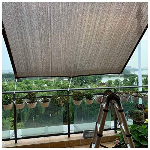 YLL Filet D'ombrage Rectangulaire Protection UV Respirant HDPE Tissu D'ombrage pour Extérieur, Jardin, Patio Ou Terrasse Marron,1x1m(3 * 3ft)