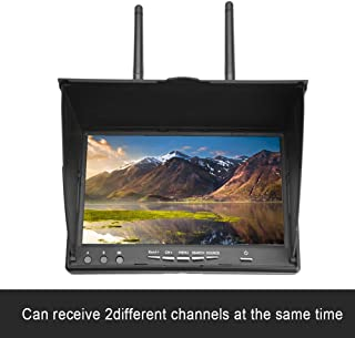 fosa FPV Monitor 5.8GHz 40Channels 7Inch LCD Monitor/Display Screen Receiver Monitor for FPV Drone Quadcopter with Wireles...