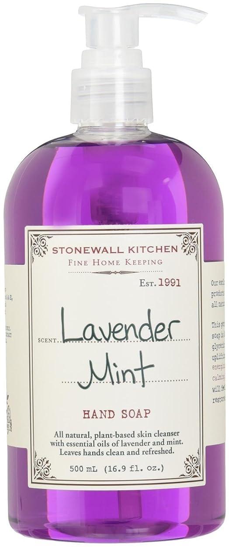 抑制警察署解放Stonewall Kitchen ラベンダーミントハンドソープ、16.9オンスボトル