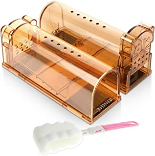 ASprint Humane Mouse Trap, Live Trap Catch and Release to Get Rid of Mice, No Kill No Mess, for Outdoor/Indoor use, Best Mouse Control -2 Pack