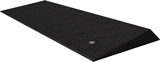 EZ-ACCESS TRANSITIONS Rubber Angled Entry Mat in Black, 1.5