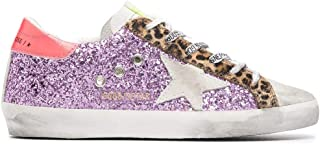 Golden Goose Luxury Fashion Donna GWF00101F00024780258 Viola Pelle Sneakers | Stagione Permanente