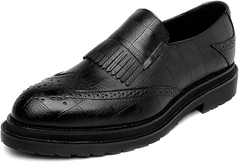 JIALUN-Schuhe PU-Leder-Schuhe der einfachen einfachen einfachen Männer Klassische Beleg-auf Quasten-Dekoration Breathable Formale Geschäfts-gefütterte Outsole Oxfords (Farbe   Schwarz, Größe   40 EU) bf9cb6