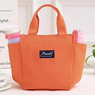 Vioaplem Fashion Canvas Shopping Tote Bag Shoulder Travel Beach Handbag Mummy Bag For Women (Color : Orange)