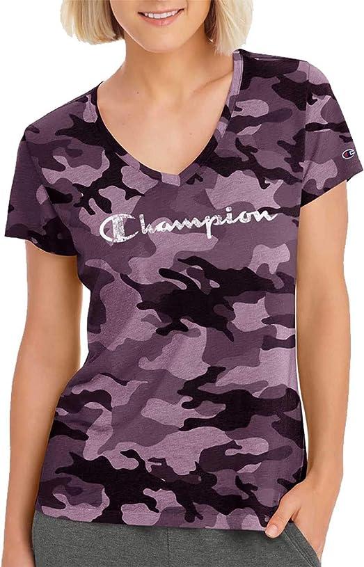 ファウル化学者正規化[チャンピオン] レディース シャツ Champion Women's Authentic Wash Camo T-S [並行輸入品]
