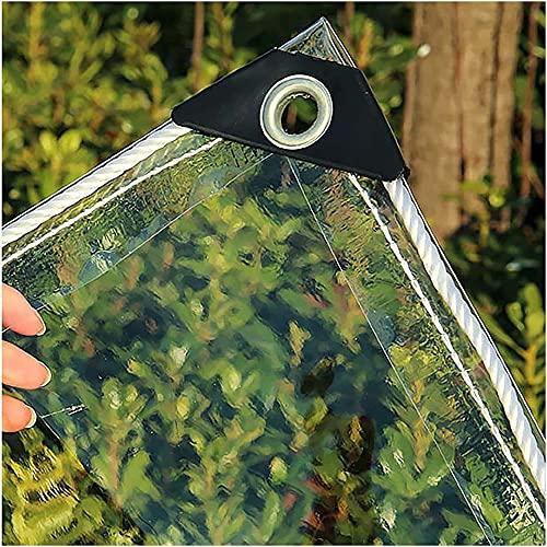 Table lamp Lona Transparente – Lona de PVC Impermeable de plástico con Ojales, Cubierta de Hojas para Plantas de Flores, Resistente a la Lluvia(1Mx2.5M)
