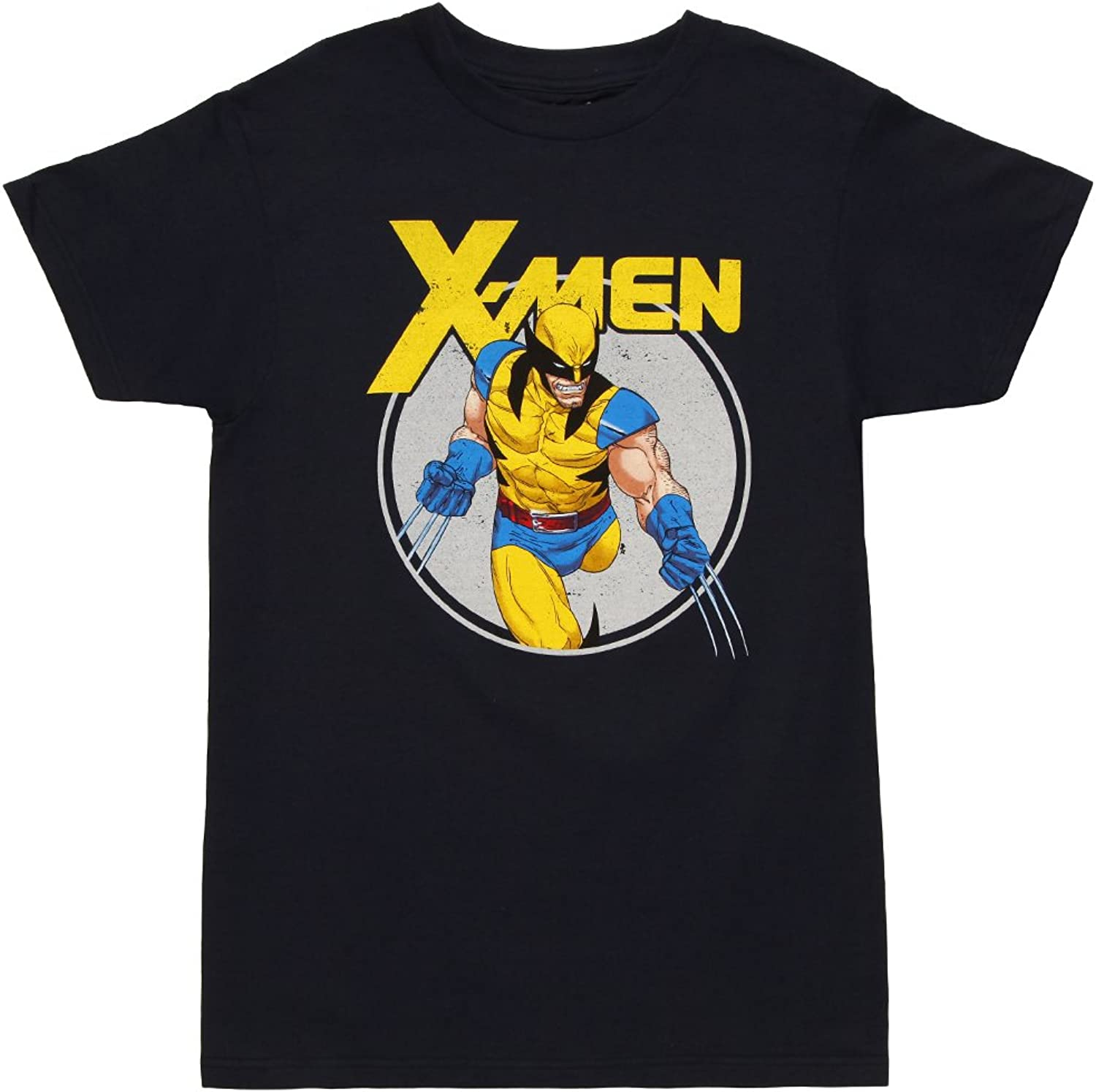 Mighty Fine XMen Comic Wolverine Circle Adult TShirt