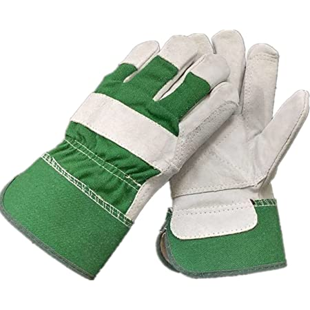 Minage Heavy Duty Gardening Gloves Ladies and Men - Garden Gloves Thorn Proof Leather Work Gloves Strong for Garden Tools Pruning Shears Bricklaying