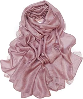 Womens Extra Large Scarf Shawl Wraps Pashminas Solid Soft Silky for Bridal Evening Wedding Party