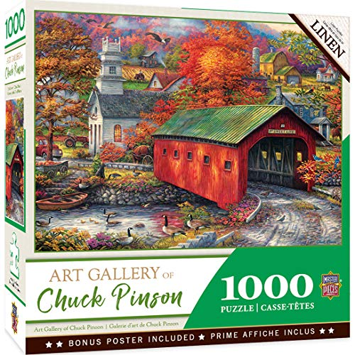 MasterPieces Chuck Pinson Art Gallery Linen Jigsaw Puzzle, The Sweet Life, 1000 Pieces