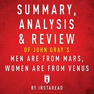 Summary, Analysis & Review of John Gray's Men Are from Mars, Women Are from Venus by Instaread audiobook cover art