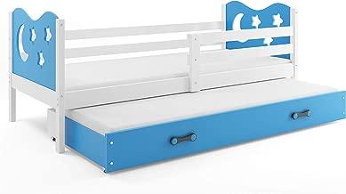 somier y caj/ón- Nuevo DISE/ÑO- Gratis! 190X90 Interbeds Cama Individual Miko Azul colch/ón de Espuma