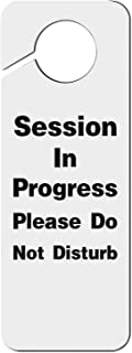 Crtsyins Inyin Do Not Disturb Meeting in Session-1 Plastic Door Knob Hanger Sign