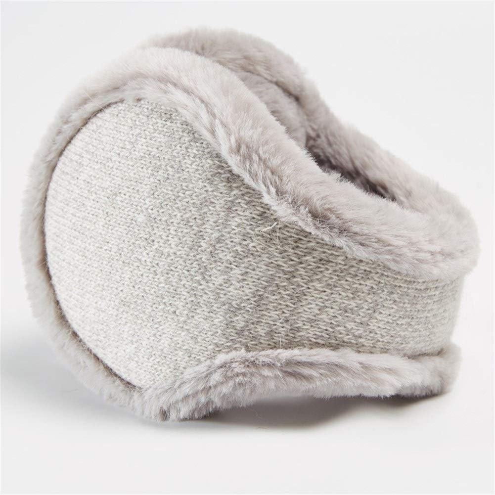 ZYXLN-Earmuffs,Warm Earmuffs Girls Winter Earmuffs Winter Knitted Earmuffs Antifreeze Collapsible Ear Warmer Lovely Fluffy Earmuffs Behind The Head Earmuffs (Color : Gray)