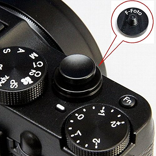 エフフォト F-Foto ソフトレリーズシャッターボタン 各社カメラ対応 凹タイプ (ブラック) SB-B