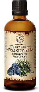 Aceite Esencial de Pino Suizo 100ml - Pinus Cembra - Suiza - 100% Natural & Puro - Mejor para Belleza - Salud - Cabello - ...