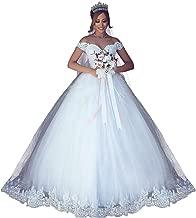 VinBridal 2019 Off Shoulder Ball Gown Wedding Dress Lace Applique Bridal Gown