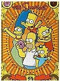 YYLPLLELos Simpsons Puzzles 1000 Piezas para Adultos Rompecabezas De Madera Rompecabezas Divertidos Y Rompecabezas De Descompresión 50X75Cm