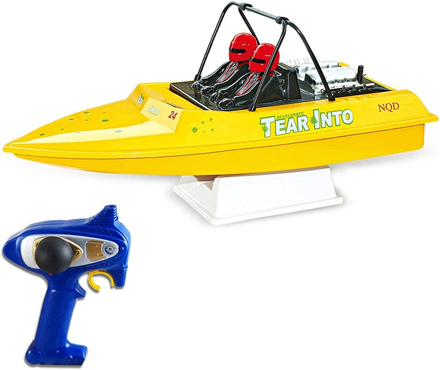 KUVV COOL White And Yellow Super Large Jet Steering Gear Remote Control Boat High Speed Remote Control Speedboat Water Navigation Model Ship ( color   Yellow )