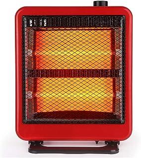 LRXG Calentadores, Hogar Calefacción Vertical del Hogar del Radiador del Ventilador Silencioso: Tecnología con 2 Configuraciones De Calor, Protección contra Vuelcos (Rojo)