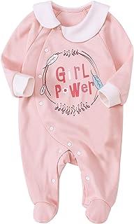 男婴和女婴连体衣 Preemie 连裤袜 婴儿棉 长袖 连身衣 连体衣 睡衣新生儿服装