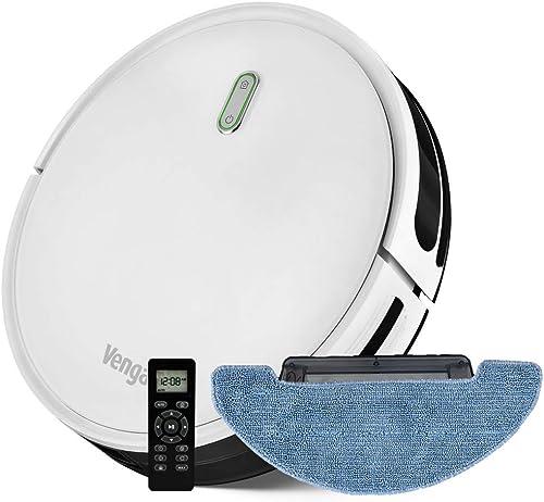 Venga! Robot Aspirateur, Laveur de sol, Facile à Utiliser, 6 Modes de Nettoyage, Silencieux, Blanc, VG RVC 3000
