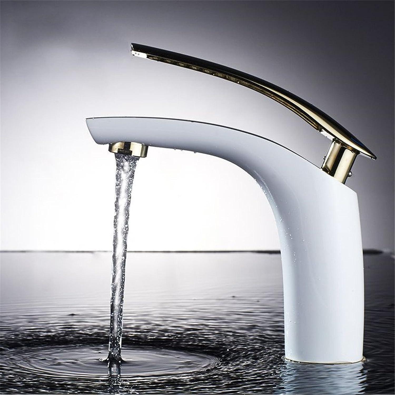 Bijjaladeva Wasserhahn Bad Wasserfall Mischbatterie WaschbeckenDas Gehuse aus Messing Farbe Wasserhahn Einloch Waschbecken Kaltes Wasser Waschbecken mit Hand Waschen Wasserhahn B