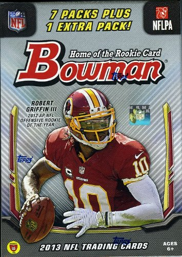 2013 Bowman NFL Football Factory Sealed Retail Box with TWENTY-Five(25) Rookie Cards of the Amazing 2013 NFL Rookie Class Chrome Football Retail Box