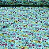 Stoff am Stück Stoff Kinderstoff Baumwolle Elastan Single