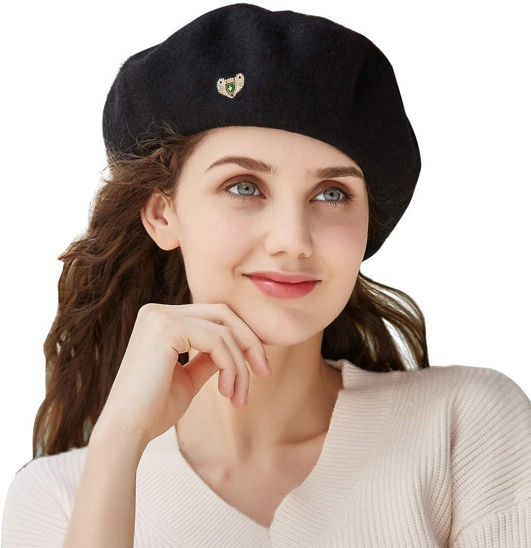 VEC Wool Berets Cap for Women Beanies Cap Artist Hats French Style