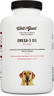 Well & Good Skin & Coat Omega-3 Dog Capsules, 180 Capsules