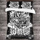 Dmp Kinnikuman 3D Printing Quilt Cover Bed Set Twin Size Microfiber 3pcs Bedding Set 1 Quilt Cover + 2 Pillowcases (No Comforter) for Boys Child Teens Girls 86x70inch