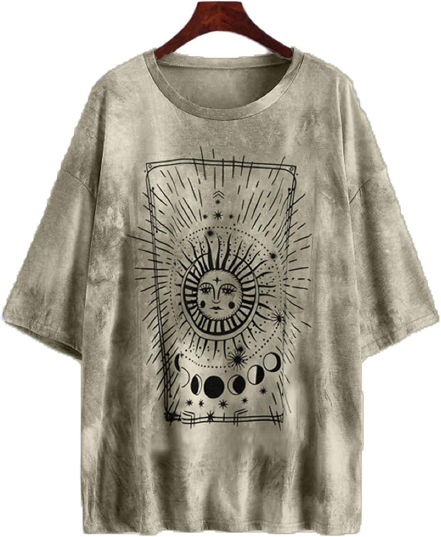 LOLLO VITA T Shirt Oversized Graphic Tee Tie Dye Tops Hip Hop Shirts Casual Street Fashion T Shirts for Women/Men