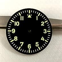 FidgetKute 35.5mm Luminous Black Watch Dial Fit Mingzhu/DG 2813/3804 Miyota 8205/8215/821A Show One Size