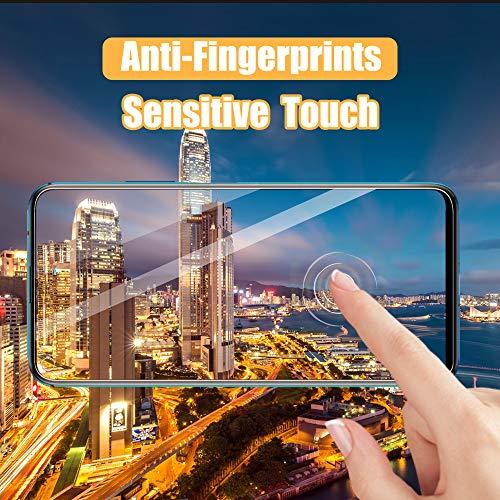 UniqueMe [3 Stück] Schutzfolie für Huawei Nova 5T Panzerglas, HD klar gehärtetes Glas Displayschutz [9H Härte Folie] [Anti-Fingerabdruck] Displayschutzfolie - 3