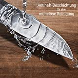Zolmer® Profi Santokumesser aus deutschem Carbon Edelstahl und Pakkaholz - Rostfreies Sushi Messer mit Antihaftbeschichtung - Japanisches Küchenmesser - 4