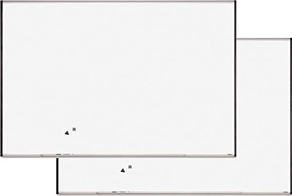 Lorell Magnetic Dry Erase Board 6 Feet By 4 Feet Silver Ebony 2 Boards