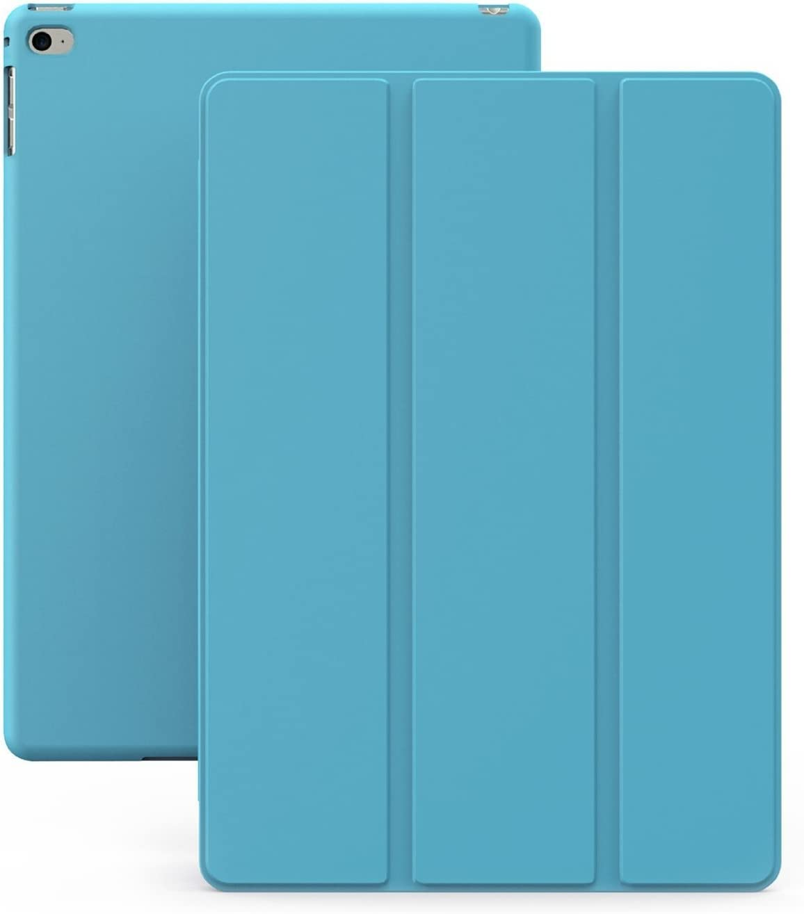 KHOMO iPad Air 2 Case - Dual Series - Ultra Slim Cover with Auto Sleep Wake Feature for Apple iPad Air 2nd Generation Tablet, Blue (ip-air-2-blue)