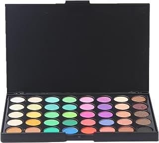 Sombras de Ojos, Ruwhere 40 colores paleta de sombra de ojos Profesional eyeshadow palette Paleta de Maquillaje Cosmética con Color Cálido y Frío