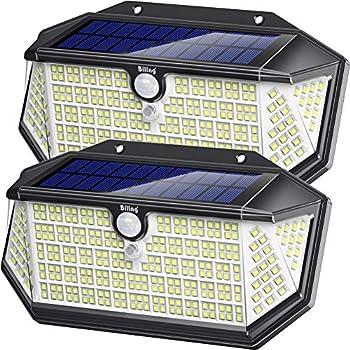 2-Pack Biling 266 LED IP65 Waterproof Solar Motion Sensor Security Lights