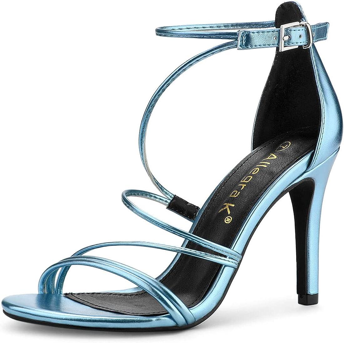 Lowest price challenge Allegra K Women's Party Max 70% OFF Strappy Sandals Stiletto Heels High