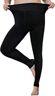 Ypser Women's Thick Velvet Leggings High Waisted Fleece Lined Elastic Pants