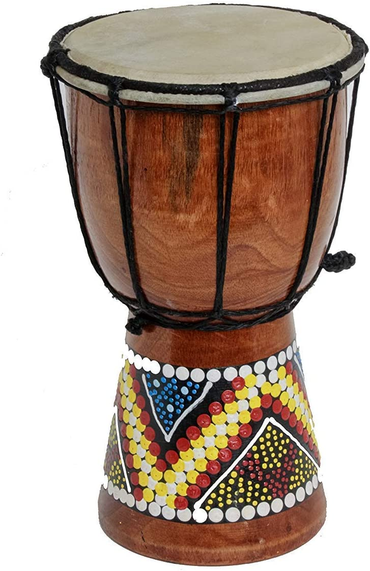 30cm Height Djembe colorful painted drum handmade for Kids : Amazon.co.uk: Musical Instruments & DJ