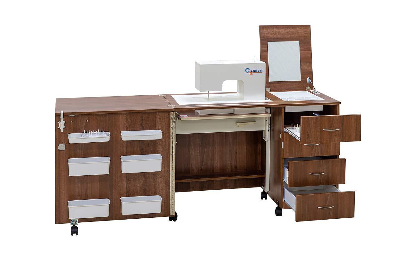 Comfort 2 | Mueble para máquina de coser | (Beech Ellmau, L (Air ...
