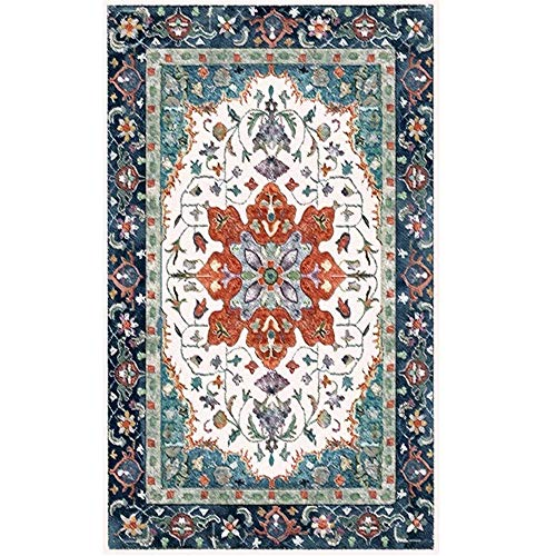 WQ-BBB Non-Slip dosen't shed Rugs Retro style lovely rug grey blue white brown pattern room decoration Dining Room Rug 160X230cm